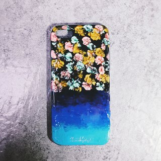 Fireworks series ll Hello blue fireworks ll hand-painted oil painting phone case