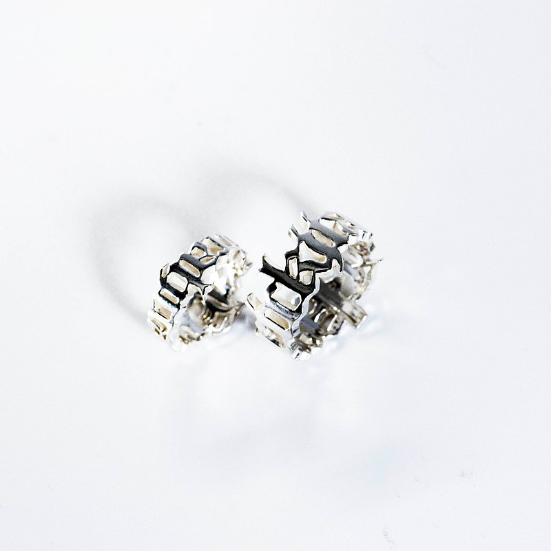 zo.craft about Full Name / Ring / 925 silver (one pair)