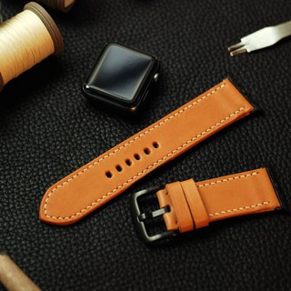 Applewatch leather hand strap strap - camel [Italian Association certification] [buttero]