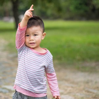 Cotton mercerized cotton long-sleeved T-shirt - powder sleeve hand-made non-toxic children's clothing T-shirt cotton
