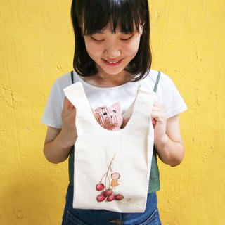 Cotton vest bag │Chien│ Fruit Girl Series│size:S