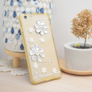 iphone6 plus or iphone 6s plus case flower crystal silicone rubber mobile case by Niyome case