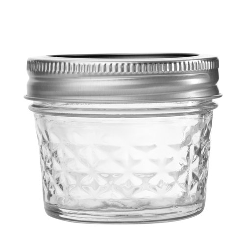 US imports of glass sealed Mason jar _4oz Ling grid narrow mouth cans