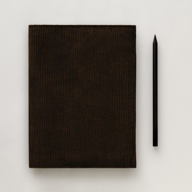 Corduroy A5 Notebook (Grey)