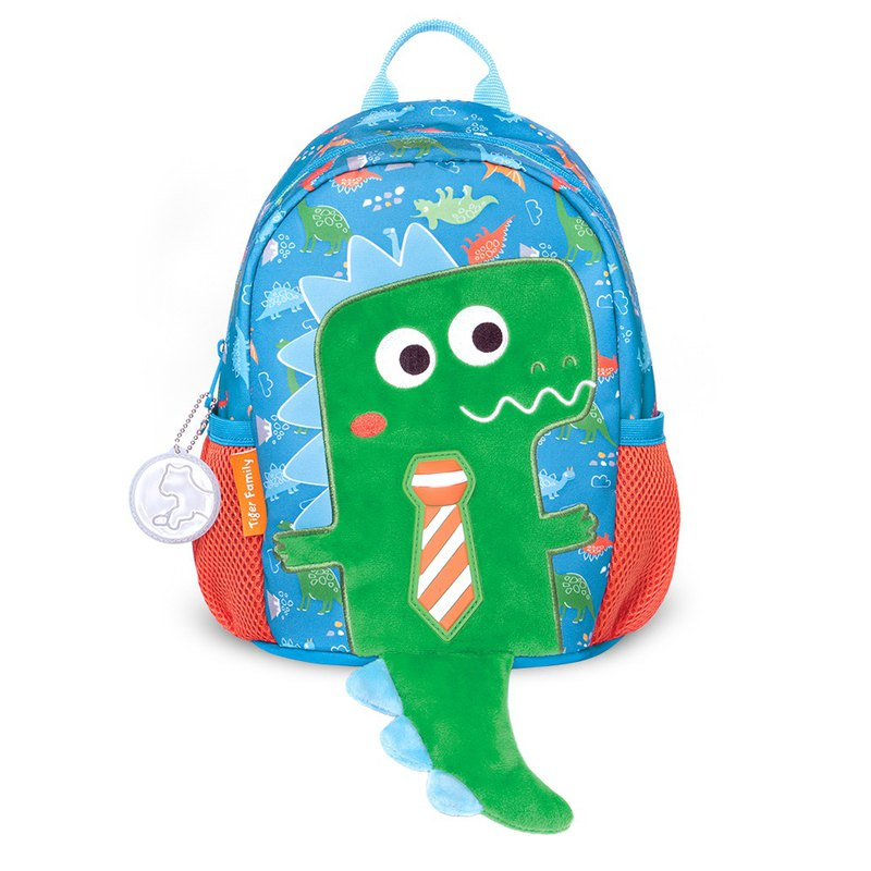 TigerFamily hugs a good friend 3D toddler backpack - playful dinosaur