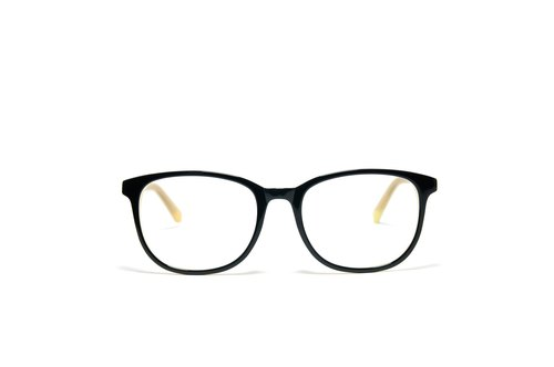 Optical Glasses│Handmade Acetate Eyewear│Black Vintage Frame│2is 2006C23