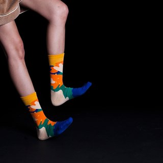 Dear, Buncho: Daun/Jungle Forest Royal Blue Crew Socks Mens Socks