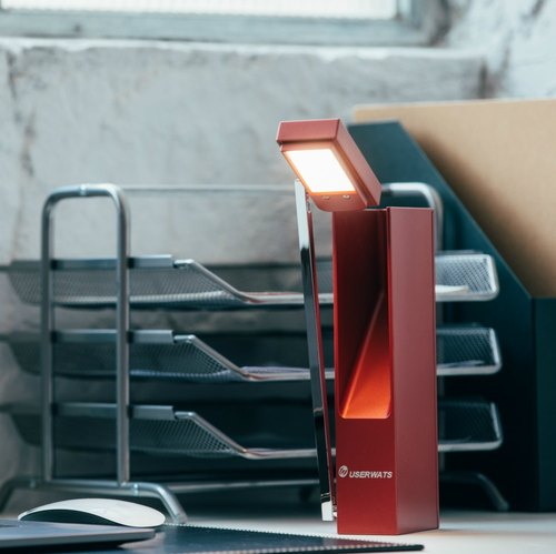 Rechargeable LED Desk Lamp - Red