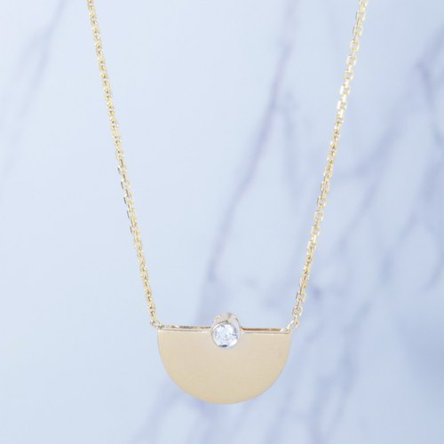 18K Gold Fallen Geometric Diamond Necklace