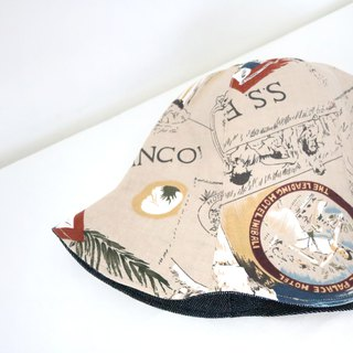 Spot - Vintage Street Handmade Double-sided Hard Hat Fisherman Hat