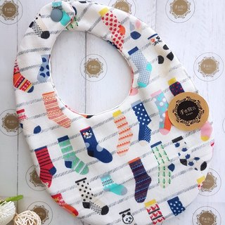 (Fashion Socks - Beige) Eight Yarn 100% Cotton Double Sided Egg Bib