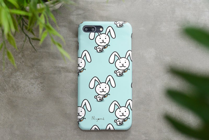 iphone case white rabbit pattern for iphone 6,7,8, iphone xs, iphone xs max