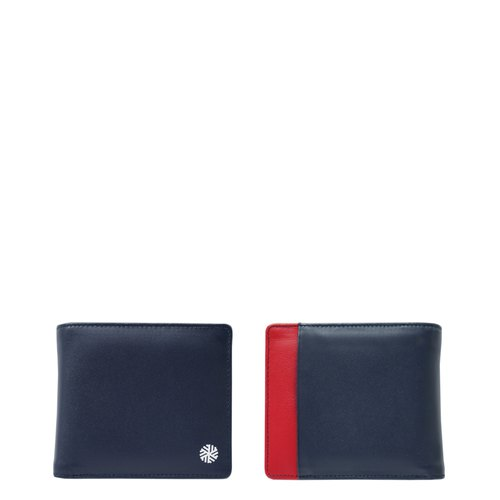 IVERSEN Timo Wallet in Navy / Red