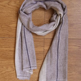 Cashmere Stripes Shawl / Scarf / Stole Diamond_Light Brown