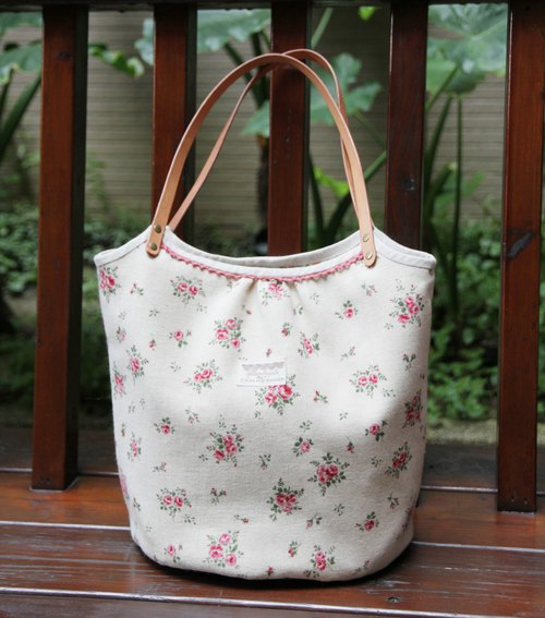 Xiang-NSJ Sweet Floral Shoulder Bag