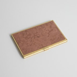 Brass Card Case (Red Copper Hand Dyeing)