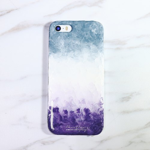Gradient color gradient Jun Series ll ll edition hand-painted oil gray shell style phone