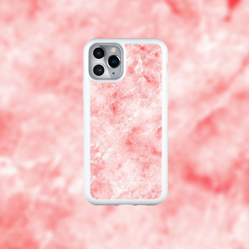 Polar Polar Red Marble iPhone Tempered Glass Case