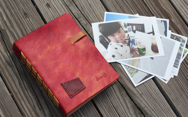 Leather photo album - Black
