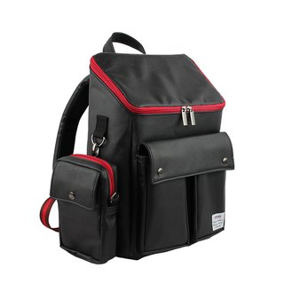 AMINAH-Black British retro backpack [am-0303]