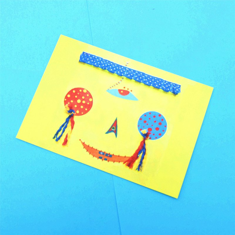 "SMALL POTATO exclusive original lemon yellow series Liang Xiaodan hand-painted illustrations fun postcard ""make-up"""