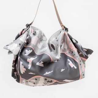 Stockholm Grey Furoshiki & Tan Leather Strap Set