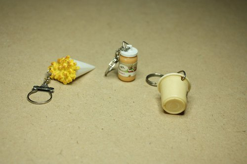 Purchased from the Netherlands in the mid-20th century Antique key ring fries Mayonnaise Remia Seasoning