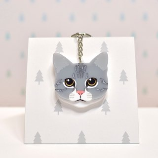 Tabby Cat - American Shorthair Cat - Keyring - Pet Accessories - Pet Charm - Gross Kids - Cat Slave - Custom - Acrylic - BU