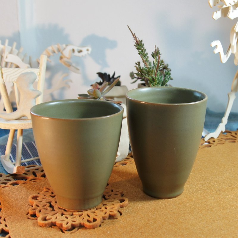 Tea green hand cup, coffee cup, tea cup, cup - capacity about 250,220ml