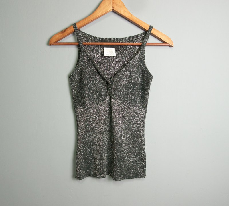 FOAK Vintage BCBG Made in Spain Dark Grey Onion Vest