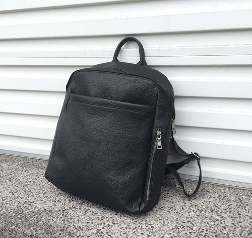 soft handmade leather backpack
