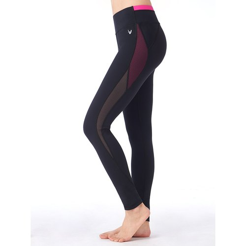 "[MACACA]-2"" Hip Bone Instant Pants - ASE7752 Black / Pink"