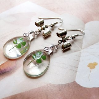 Handmade Earrings. Clover earrings, My lucky earrings