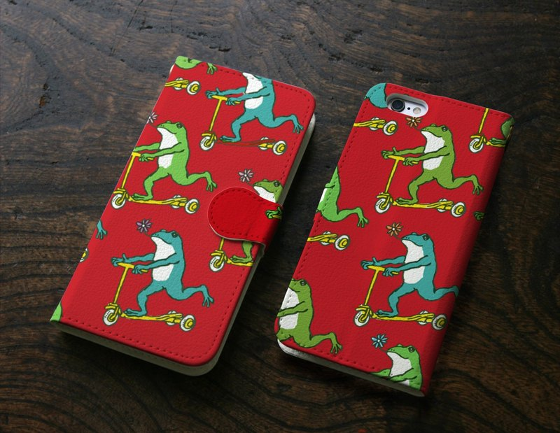 iPhone cover · notebook type frogs Red