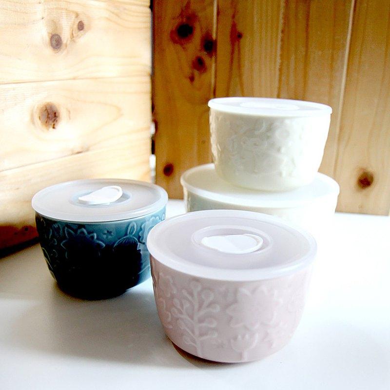母親節禮物MOOMIN嚕嚕米-散步系列4入保鮮碗(1大3小)