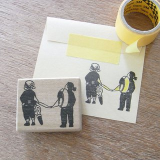 Handmade rubber stamp  Craftsman of tape