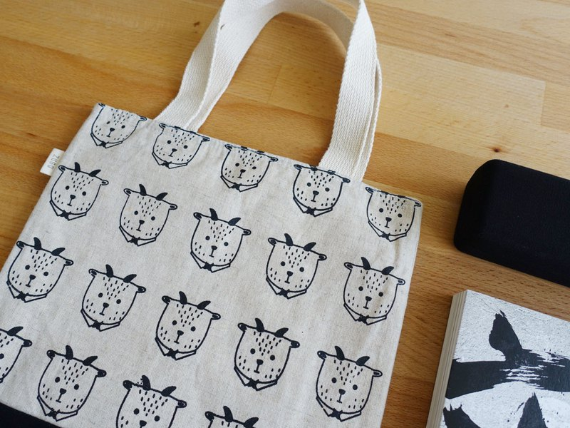 Screen printing  handbag   Mr. Fat goat