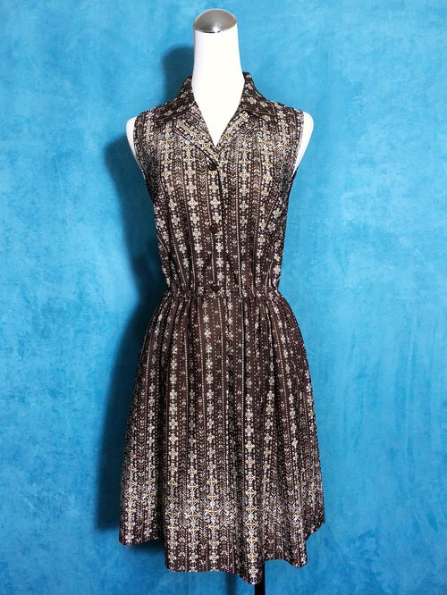 Gem Totem Sleeveless Vintage Dress / Bring back VINTAGE abroad