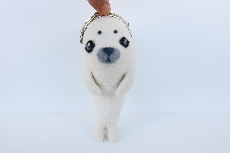 Wool Felt Animal Mouth Gold Ocean Series - Seal Taiwan Made Limited Manual