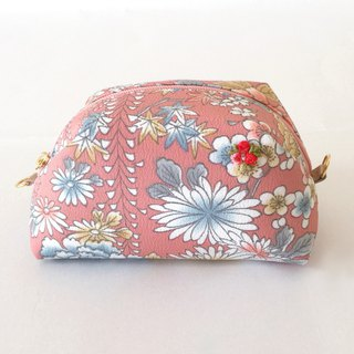 Pouch with Japanese Traditional Pattern, Kimono (Medium)