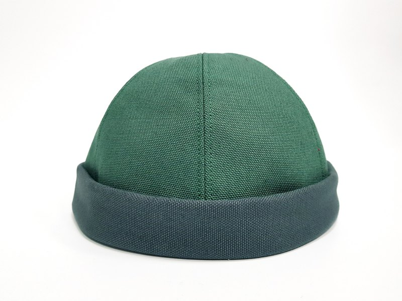 Tide Explosion ~ Sailor Cap / Watermelon Cap - Wen Qing Mo Lan Di Green / Gray Match #