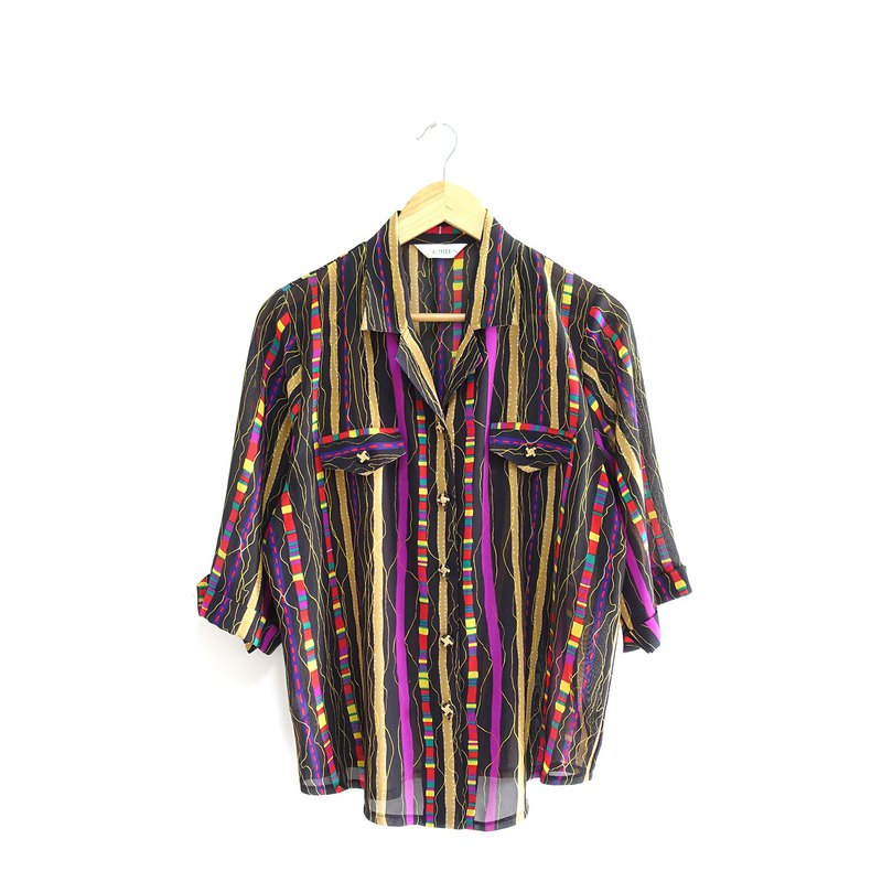 │Slowly│ colorful streamlined - vintage shirt │vintage. Retro. Literature