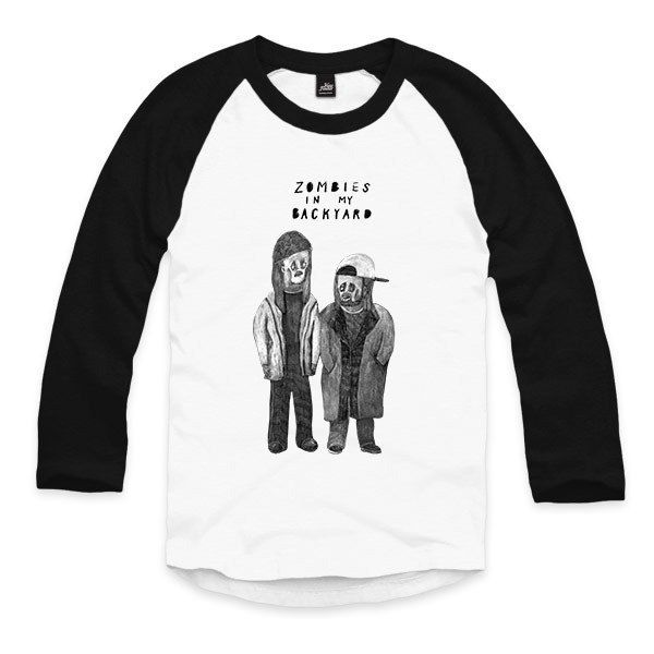 Jay and Silent Bob - White / Black - Seven Sleeve Baseball T-Shirt