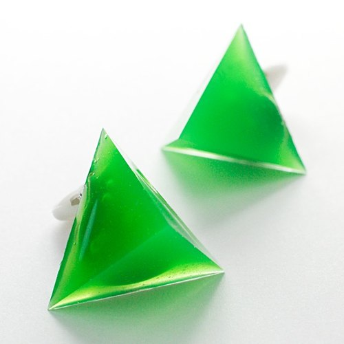 Triangle earrings (that bath)