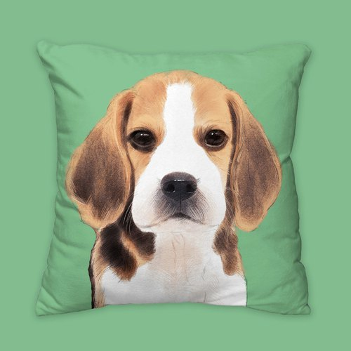 [I will always love you] Classic Migar dog animal pillow / pillow / cushion