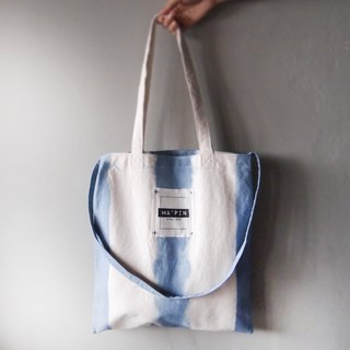 Cornflower Blue Straight - Canvas Hand Dye Tote Bag Double Back