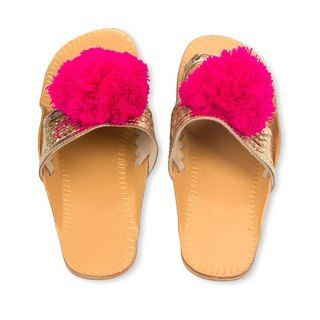 CHANDAMAMA Desi Gold w/Fuschia Slipper