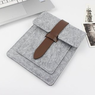 Original handmade light gray felt Apple computer protective cover felt set 9.7 inch iPad Pro iPad 2017 laptop bag computer bag iPad Pro (can be tailored) - 036