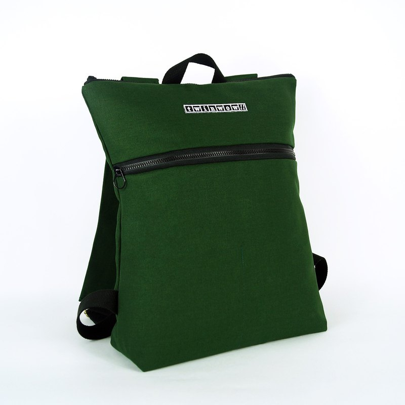 Stylish and lightweight - delicate texture backpack - fir green black