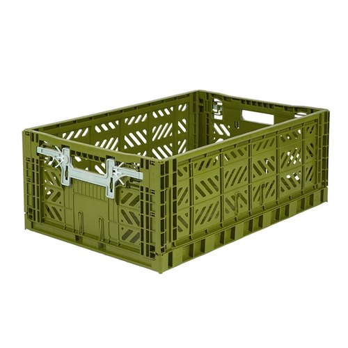 Turkey Aykasa Folding Storage Basket (L) - Olive Green